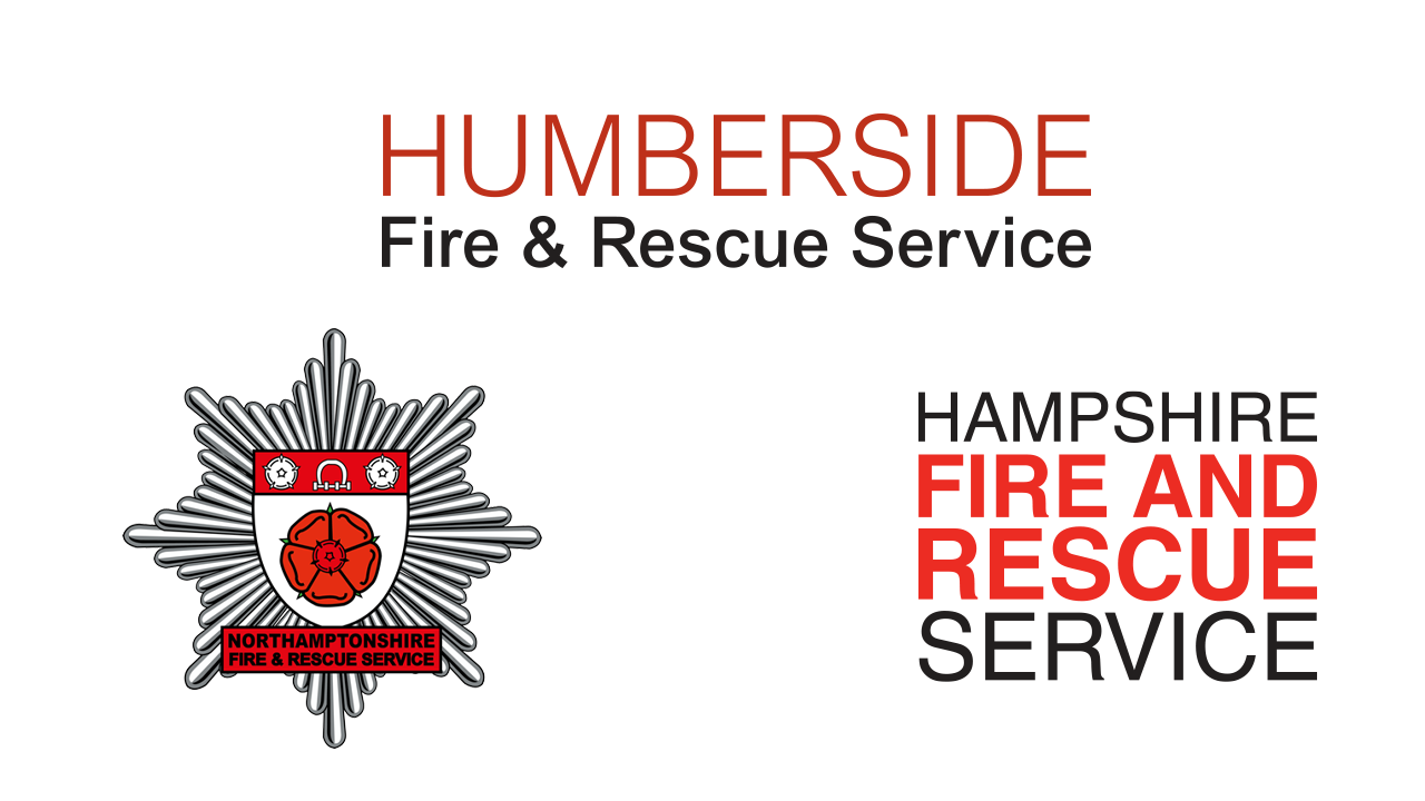 Humberside, Northamptonshire and Hampshire Fire Service Logos