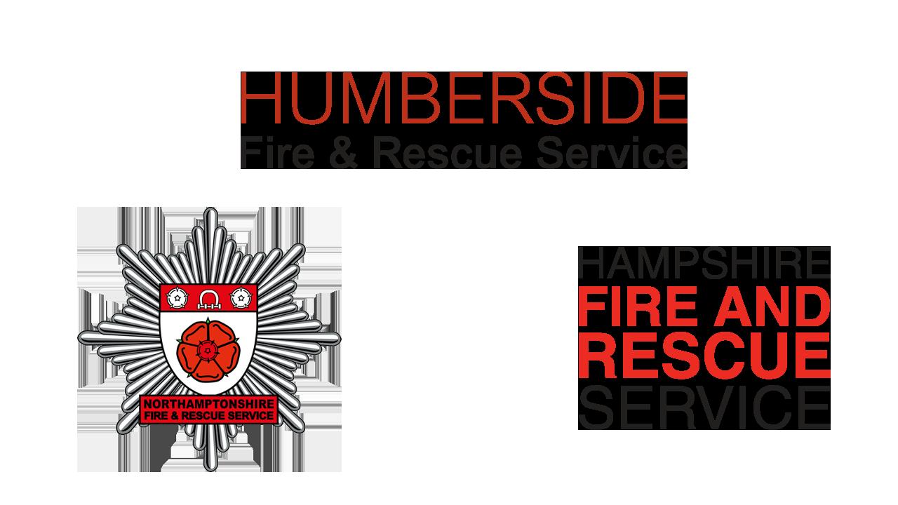 Humberside, Northamptonshire and Hampshire Fire Service Logos