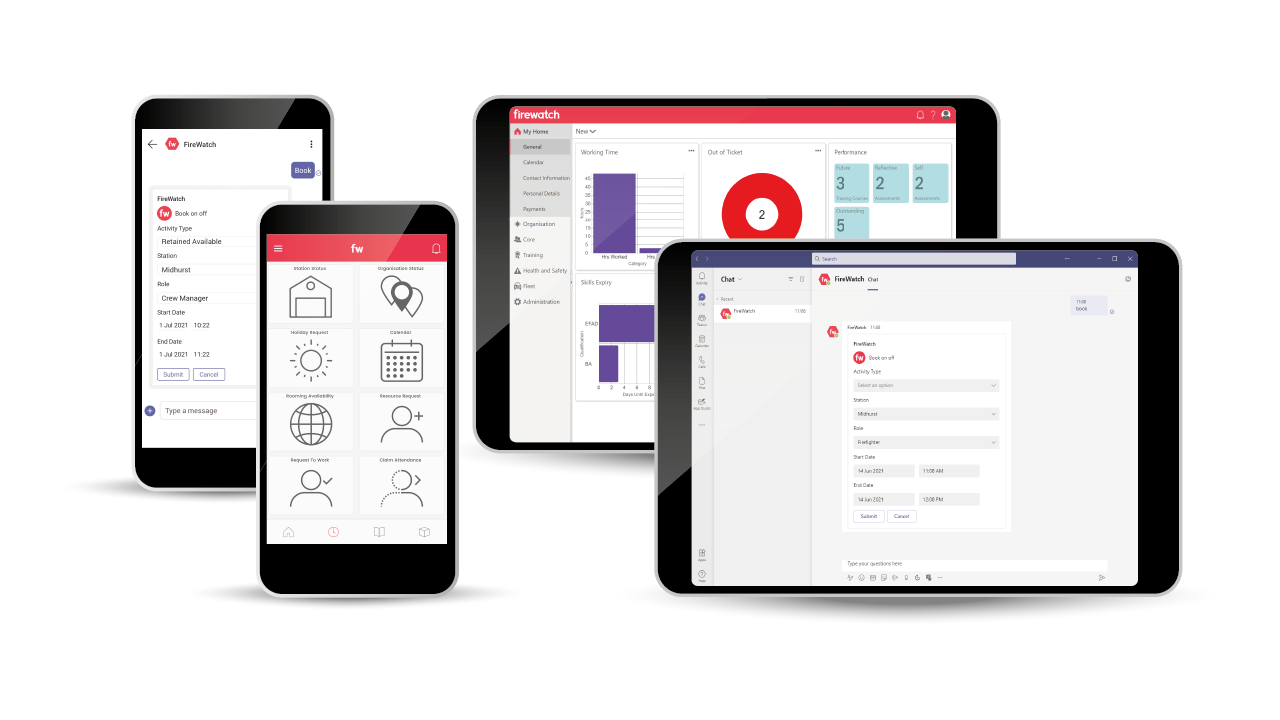 FireWatch App, Web Client and Microsoft Teams App